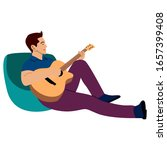 young musician playing the...   Shutterstock .eps vector #1657399408