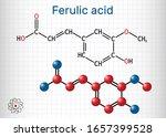 ferulic acid  coniferic acid ... | Shutterstock .eps vector #1657399528