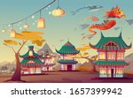 weifang kite festival in china. ...   Shutterstock .eps vector #1657399942