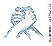 arm wrestling. arm wrestling...   Shutterstock .eps vector #1657414702