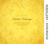 elegant indian ornamentation on ... | Shutterstock .eps vector #165742856