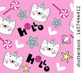 vector illustration with cat...   Shutterstock .eps vector #1657446412