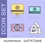 set cinema ticket   online play ... | Shutterstock .eps vector #1657472668