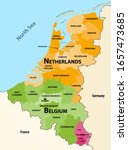 vector regions map of benelux... | Shutterstock .eps vector #1657473685