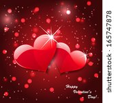 red valentines day background  | Shutterstock .eps vector #165747878