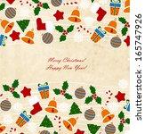 christmas card    Shutterstock .eps vector #165747926