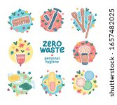 zero waste hygiene kit design.... | Shutterstock .eps vector #1657482025