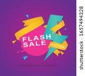 flash sale discount banner... | Shutterstock .eps vector #1657494328