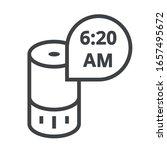 smart speaker and clock black... | Shutterstock .eps vector #1657495672