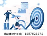 hit business targets. stock... | Shutterstock .eps vector #1657528372