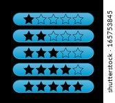 vector blue rating stars | Shutterstock .eps vector #165753845