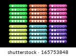 set of vector 5 rating stars | Shutterstock .eps vector #165753848