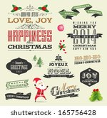 christmas design and decorative ... | Shutterstock .eps vector #165756428