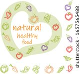 set natural vegetables healthy ... | Shutterstock .eps vector #1657565488