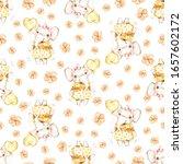 watercolor cute nursery naive... | Shutterstock . vector #1657602172