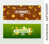 set of banners designs for st.... | Shutterstock .eps vector #1657625092