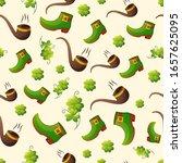 leprechaun green shoes and... | Shutterstock .eps vector #1657625095