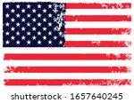 grunge vintage american flag... | Shutterstock .eps vector #1657640245