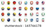 soccer balls with various flags ... | Shutterstock . vector #165766178