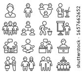 office people icons set on... | Shutterstock .eps vector #1657662652