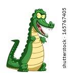 cartoon crocodile.    Shutterstock . vector #165767405