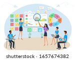concept of agile project... | Shutterstock .eps vector #1657674382