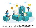 vector concept of business team ... | Shutterstock .eps vector #1657674925