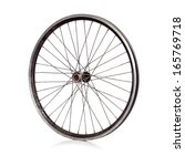 used bicycle wheel with no tire ... | Shutterstock . vector #165769718