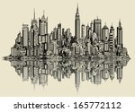 vector illustration of a sketch ... | Shutterstock .eps vector #165772112