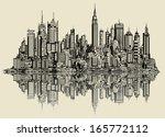 vector illustration of a sketch ... | Shutterstock .eps vector #165772112