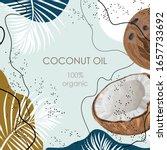 Stylized Coconut With Palm...