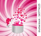 valentines day card with gift...   Shutterstock .eps vector #165774125