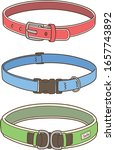 choose a dog collar from the... | Shutterstock .eps vector #1657743892