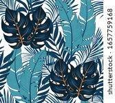 summer tropical seamless... | Shutterstock .eps vector #1657759168