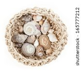 A Crochet Bowl With Sea Shells