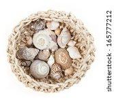 A Crochet Bowl With Sea Shells