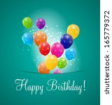 color glossy balloons... | Shutterstock .eps vector #165779372