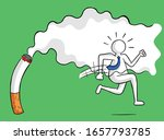 businessman escaping from... | Shutterstock .eps vector #1657793785