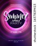 dark purple neon tropical... | Shutterstock .eps vector #1657839415