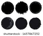 set of grunge dirty round...   Shutterstock .eps vector #1657867252