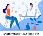 woman patient at home sitting... | Shutterstock .eps vector #1657884445
