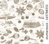 seamless kitchen background...   Shutterstock .eps vector #165788552