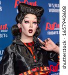 Small photo of New York, NY - February 26, 2020: Drag Queen Aiden Zhane attends RuPaulaE™s Drag Race Season 12 Premiere Event at ViacomCBS - TRL Studios