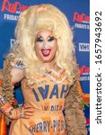 Small photo of New York, NY - February 26, 2020: Drag Queen Sherry Pie attends RuPaulaE™s Drag Race Season 12 Premiere Event at ViacomCBS - TRL Studios