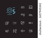 hardware icons set. access code ...