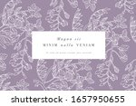 Vintage Card With Wisteria...