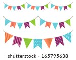 garland decoration | Shutterstock .eps vector #165795638