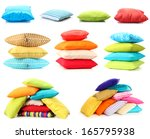 collage of color pillows | Shutterstock . vector #165795938