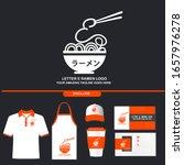 delicious letter e ramen noodle ...   Shutterstock .eps vector #1657976278