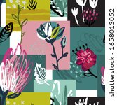 vector colorful collage... | Shutterstock .eps vector #1658013052
